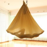 Household Handstand Elastic Stretching Rope Aerial Yoga Hammock Set (Gold)