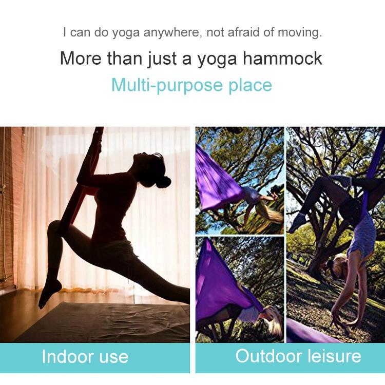 Household Handstand Elastic Stretching Rope Aerial Yoga Hammock Set (Gold)