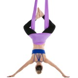 Household Handstand Elastic Stretching Rope Aerial Yoga Hammock Set (Light Purple)