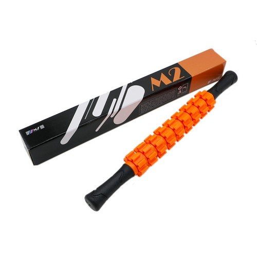 M2 Multifunctional Muscle Relaxation Gear Massage Stick Fitness Roller Rod Shaft (Orange)