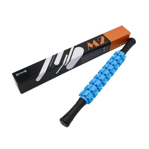 M2 Multifunctional Muscle Relaxation Gear Massage Stick Fitness Roller Rod Shaft (Blue)
