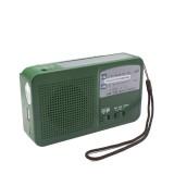 Hand Crank Dynamo Solar Power Radio Self Powered Phone Charger LED Flashlight Emergency Survival (Green)