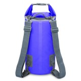 Outdoor Waterproof Dry Dual Shoulder Strap Bag Dry Sack, Capacity: 15L (Dark Blue)