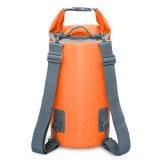 Outdoor Waterproof Dry Dual Shoulder Strap Bag Dry Sack, Capacity: 15L (Orange)