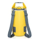 Outdoor Waterproof Dry Dual Shoulder Strap Bag Dry Sack, Capacity: 30L (Yellow)