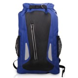 Outdoor Waterproof Dry Dual Shoulder Strap Bag Dry Sack PVC Barrel Bag, Capacity: 25L (Dark Blue)