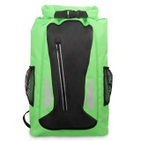 Outdoor Waterproof Dry Dual Shoulder Strap Bag Dry Sack PVC Barrel Bag, Capacity: 25L (Green)