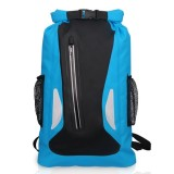 Outdoor Waterproof Dry Dual Shoulder Strap Bag Dry Sack PVC Barrel Bag, Capacity: 25L (Blue)