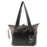 Outdoor Wear-resistant Waterproof Shoulder Bag Dry and Wet Separation Swimming Bag (Black)