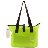 Outdoor Wear-resistant Waterproof Shoulder Bag Dry and Wet Separation Swimming Bag (Fluorescent Green)