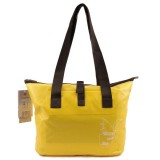 Outdoor Wear-resistant Waterproof Shoulder Bag Dry and Wet Separation Swimming Bag (Yellow)