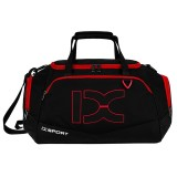 IX LK8035 Scratchproof Waterproof Dry Wet Separation Crossbody One-shoulder Yoga Fitness Travel Bag, Capacity: 40L (Red + Black)