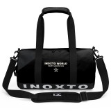 IX LK8074 Alphabet Printing Cylinder Shape Bottom Waterproof One-shoulder Portable Yoga Travel Bag for Men / Women, Size: 40x24x24cm (Black)
