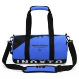 IX LK8074 Alphabet Printing Cylinder Shape Bottom Waterproof One-shoulder Portable Yoga Travel Bag for Men / Women, Size: 40x24x24cm (Blue)
