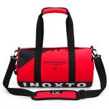 IX LK8074 Alphabet Printing Cylinder Shape Bottom Waterproof One-shoulder Portable Yoga Travel Bag for Men / Women, Size: 40x24x24cm (Red)