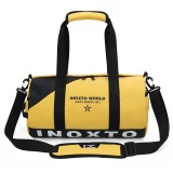 IX LK8074 Alphabet Printing Cylinder Shape Bottom Waterproof One-shoulder Portable Yoga Travel Bag for Men / Women, Size: 40x24x24cm (Yellow)