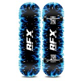 Blue Flame Pattern Children Double-warp Toy Four Wheels Skateboard Scooter