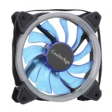 Color LED 12cm 3pin Computer Components Chassis Fan Computer Host Cooling Fan Silent Fan Cooling, with Power Connection Cable & Blue Light (Blue)