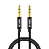 REXLIS 3629 3.5mm Male to Male Car Stereo Gold-plated Jack AUX Audio Cable for 3.5mm AUX Standard Digital Devices, Length: 1m