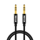 REXLIS 3629 3.5mm Male to Male Car Stereo Gold-plated Jack AUX Audio Cable for 3.5mm AUX Standard Digital Devices, Length: 3m