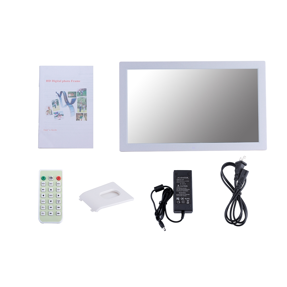 18.5 inch Wall Hanging Advertising Machine, Shopping Mall Electronic Display Stand Advertising Machine, Digital Photo Frame (White)