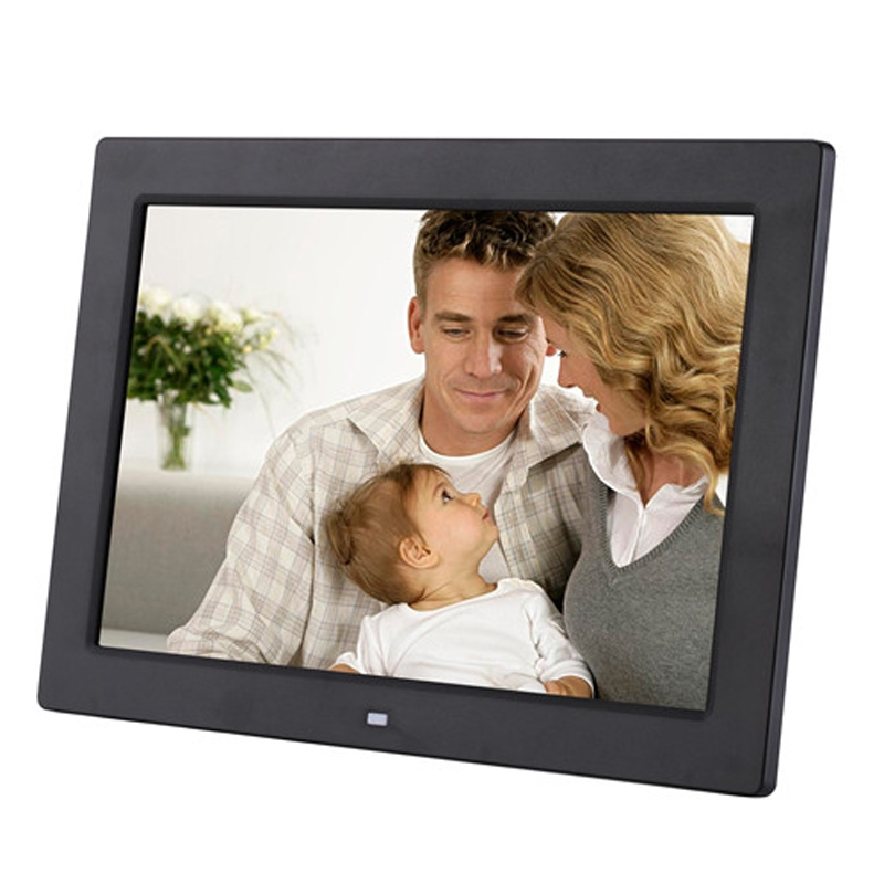 Allwinner F16 Program Black Support SD//MMC//USB Flash Disk Durable CAOMING 12.1 inch Digital Photo Frame with Holder /& Remote Control Color : Black