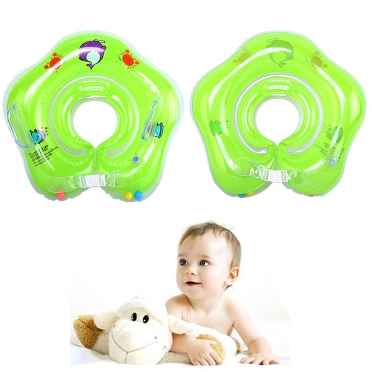 Circle Shaped Inflatable Baby Children Swimming Neck Ring (Blue)