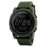 SKMEI 1257 Men Fashionable Outdoor 50m Waterproof Digital Watch Sports Wrist Watch (Army Green)