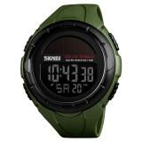 SKMEI 1405 Fashion Solar Power Outdoor Sports Watch Multifunctional 50m Waterproof Men Digital Watch (Army Green)