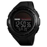 SKMEI 1405 Fashion Solar Power Outdoor Sports Watch Multifunctional 50m Waterproof Men Digital Watch (Black)
