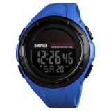 SKMEI 1405 Fashion Solar Power Outdoor Sports Watch Multifunctional 50m Waterproof Men Digital Watch (Blue)