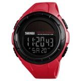 SKMEI 1405 Fashion Solar Power Outdoor Sports Watch Multifunctional 50m Waterproof Men Digital Watch (Red)