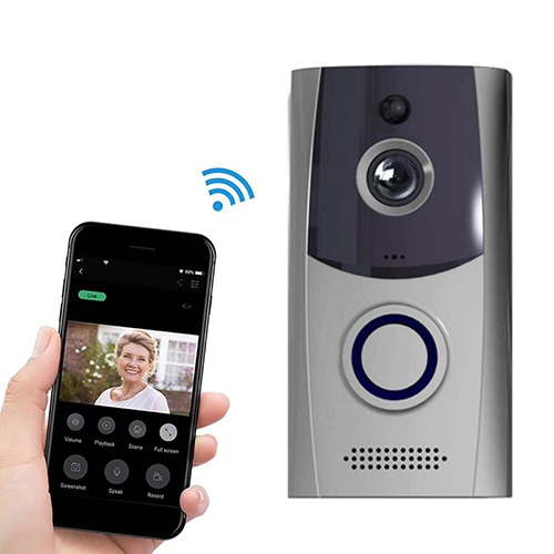 M11 720P Smart WIFI Ultra Low Power Video Visual Doorbell, Support Phone Remote Monitoring & Night Vision& IP53 Waterproof & SD Card (Grey)