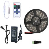 YWXLight Dimmable Light Strip Kit US No Waterproof Led Strip Lights SMD 5050 5M 300LEDs 60leds/m (Blue)