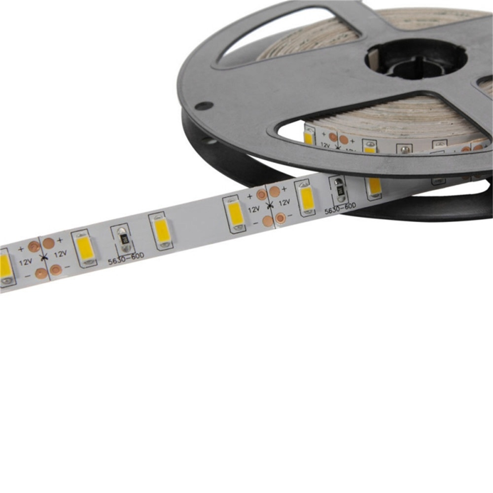 YWXLight EU Plug LED Strip Lamp 300led 5M 5630 SMD Cold White, Warm White IP20 Ribbon Tape With 5A Power Adapter (Warm White)