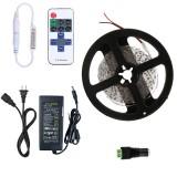 YWXLight Dimmable Light Strip Kit, 5m LED Ribbon, 11key Remote Control LED Strip Lamp 300led US Plug (Cold White)