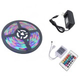YWXLight US Plug 5M 300 LEDs SMD 2835 Waterproof RGB LED Light Bar Strip 24Key Remote Control