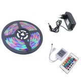 YWXLight EU Plug 5M 300 LEDs SMD 2835 Waterproof RGB LED Light Bar Strip 24Key Remote Control