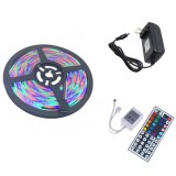 YWXLight US Plug 5M 300 LEDs SMD 2835 Waterproof RGB LED Light Bar Strip 44Key Remote Control