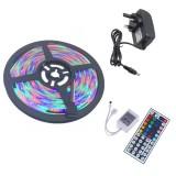 YWXLight UK Plug 5M 300 LEDs SMD 2835 Waterproof RGB LED Light Bar Strip 44Key Remote Control