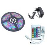YWXLight 5M 2835 RGB WIFI LED Strip light Waterproof RGB Remote WIFI Wireless Controller EU Plug