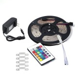 YWXLLight UK Plug 5M 2835 SMD Waterproof Light With 24 Key Remote Control Plug Accessories RGB LED Light Strip