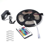 YWXLLight 5M 2835 SMD Waterproof RGB LED Strip Light with 24 Key Remote Control, EU Plug