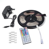 YWXLLight UK Plug 5M 2835 SMD Waterproof Light With 44 Key Remote Control Plug Accessories RGB LED Light Strip