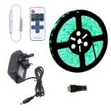 YWXLLight Dimmable Light Strip Kit, SMD 2835 5m LED Ribbon, Waterproof for Indoor, 11key Remote Control LED Strip Lamp 300LEDs UK Plug (Green)