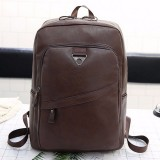 Wide Strap Casual PU Leather Double-shoulder Bag Messenger Bag for Men (Brown)