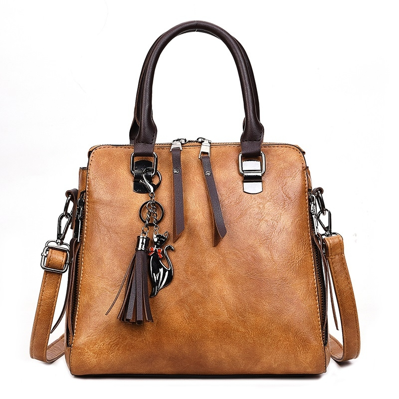 130b94886681a ... Handbag Messenger Bag with Tassel and Cat Pendant (Brown) ·  ZY13113244Z_1. ...