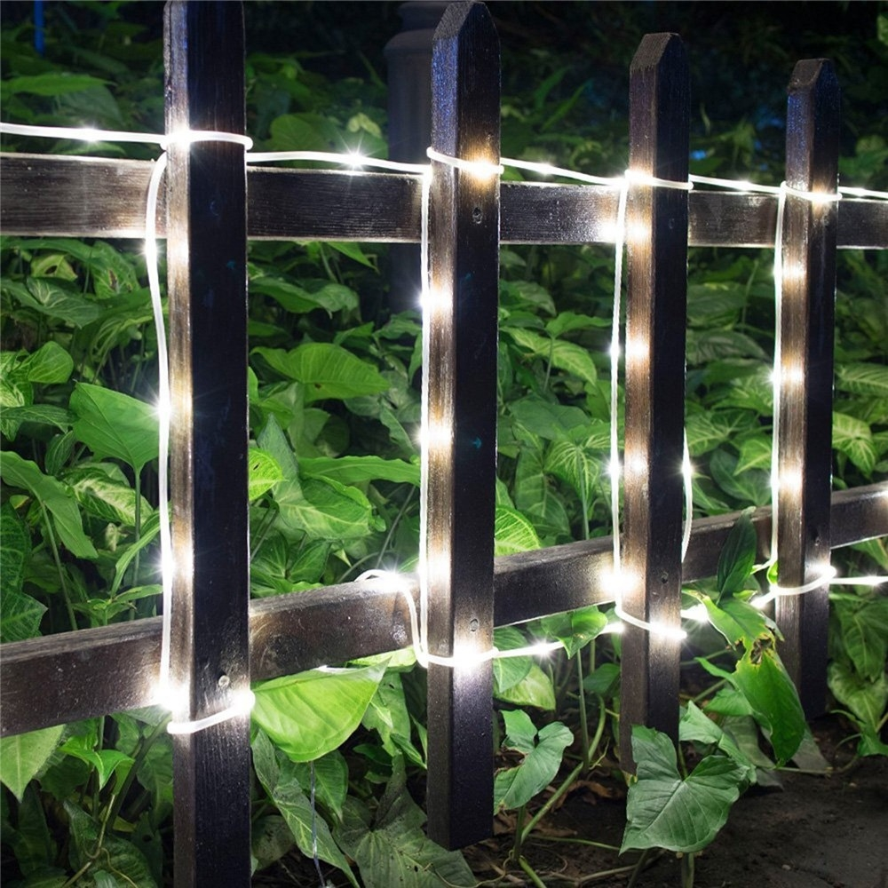 YWXLight 5W 100 LEDs IP55 Waterproof Solar String Light Outdoor Garden Christmas Party Decorative Lamp (Cool White)