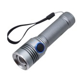 YWXLight 1000LM LED Flashlight USB Rechargeable Focusing Torch Light