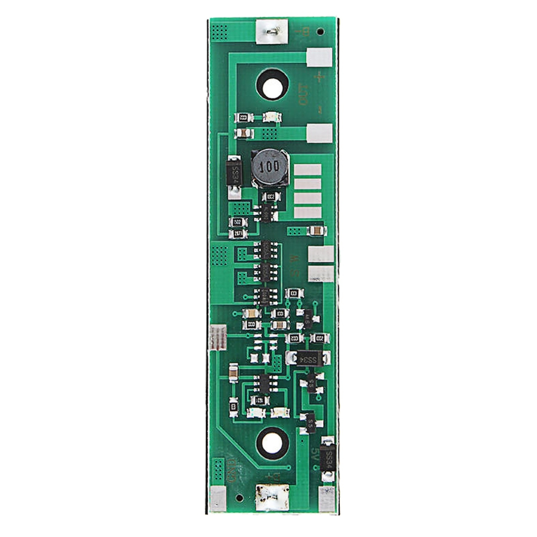 HYY-YY Circuit Board Drill Bits 12V Output Charging UPS Uninterrupted Protection Integrated Board 18650 Lithium Battery Boost Module with Case